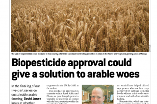 Biopesticides for the UK in the spotlight in farming press