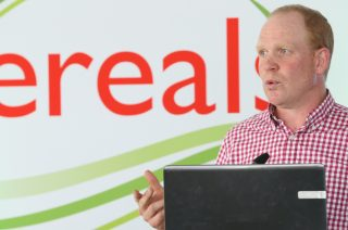 Antony Pearce, Real IPM UK Managing Director, explaining real integrated farm management