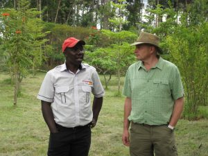 Andrew Burgess learning about Real IPM in Kenya in order to bring the products and techniques to European farming